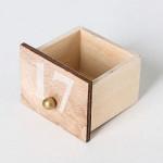 Contents: BRUBAKER Reusable Wooden Advent Calendar