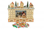 Clever Creations Traditional LED Wooden Advent Calendar  – detail 4