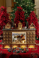 Clever Creations Traditional LED Wooden Advent Calendar  – detail 1