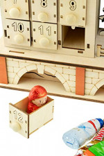Clever Creations Traditional LED Wooden Advent Calendar  – detail 3