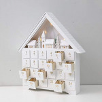Contents: PIONEER-EFFORT Christmas White Wooden Advent Calendar