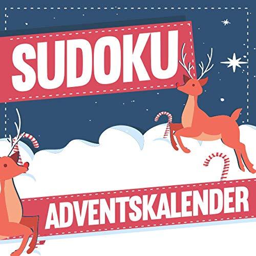 Sudoku Adventskalender: XXL Adventskalender mit insgesamt 288 Sudoku Rätseln in 3 Schwierigkeitsstufen