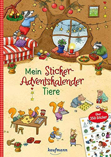 Mein Sticker-Adventskalender: Tiere - Über 350 Sticker + Stickerheft-Adventskalender (Mein Stickerbuch)