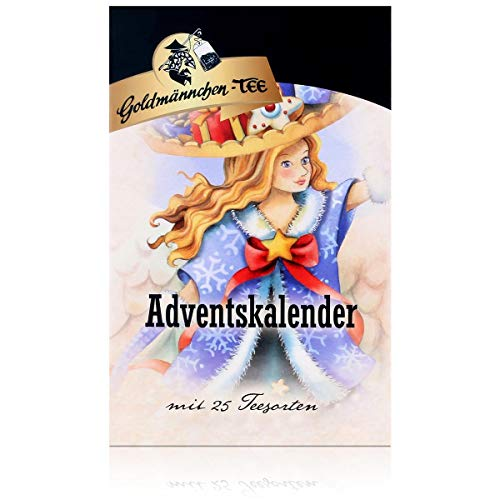 Goldmännchen Engel Tee-Adventskalender 24 + 1 Portionsbeutel, 50g