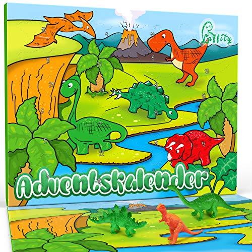 Laffity Adventskalender Dinosaurier 2020, 24 Dinosaurier Spielzeug für Kinder, Kinder Jungen Mädchen