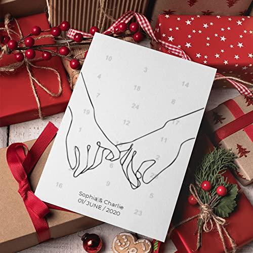 Händchen haltend kleine Finger Adventskalender | Personalisierter Adventskalender für Sie und Ihre Liebsten | 24 Türchen, die den Weg bis Weihnachten magisch verkürzen