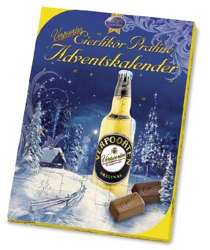 RCP Verpoorten Adventskalender Wintertraum, Eierlikör-Pralinés, Vollmilch- und Zartbitter-Schokolade, Flüssige Füllung, Alkoholhaltig, Ideales Weihnachtspräsent, 240 g