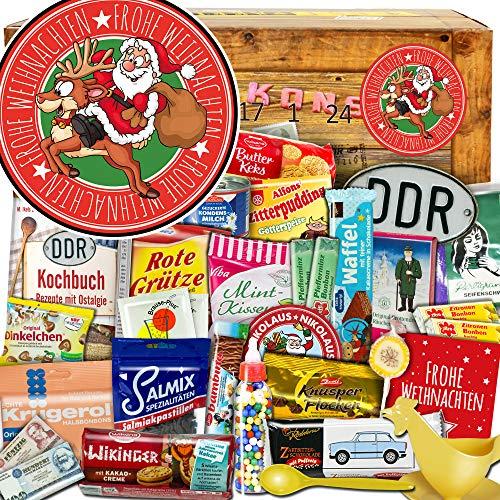 Frohe Weihnachten Santa | DDR Adventskalender | DDR Produkte | DDR Artikel in 24 Türchen | weihnachtlich verpackt mit Ostmotiven