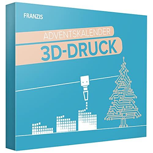 Franzis 67280-3 Adventskalender 3D Drucker durch den Advent, für Kinder ab 14 Jahre, bunt