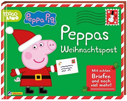 Peppa Pig: Peppas Weihnachtspost: mit Briefen, Mini-Adventskalender, Rezeptbüchlein, Aufklebern, Christbaum-Kugeln, Stickern