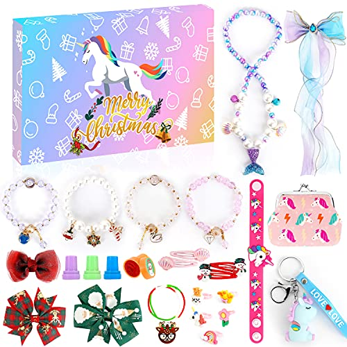 Adventskalender Kinder 2021, Adventskalender Mädchen, Adventskalender Schmuck Weihnachtsferien 24 Tage Countdown Kalender Spielzeug Weihnachtsüberraschungsgeschenk für Kinder Teens