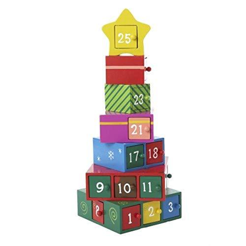 Kurt Adler Wooden Advent Calendar – detail 1