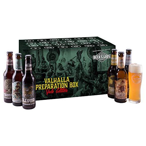 WACKEN BRAUEREI - Wikinger Craft Beer Adventskalender 2021   23 x 0,33l Flaschen Bier inkl. Bierglas   Geschenk Box für Weihnachten   Weihnachtskalender mit Füllung