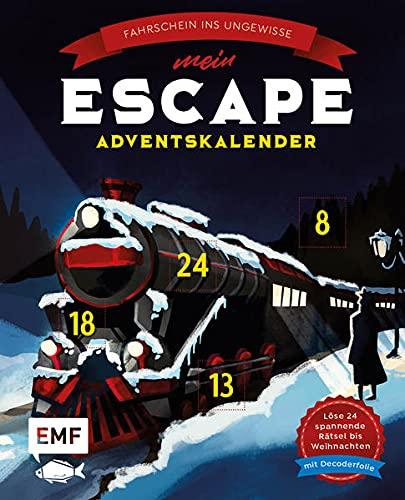 Mein Escape-Adventskalender: Fahrschein ins Ungewisse – Mit Decoderfolie: Löse 24 spannende Rätsel bis Weihnachten – Buch mit perforierten Seiten zum Auftrennen