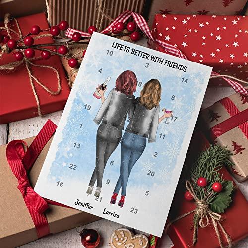 Personalisierter Adventskalender für Freundinnen | 24 Türchen, die den Weg bis Weihnachten magisch verkürzen
