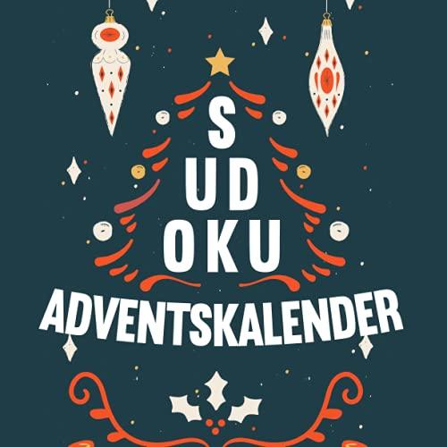 Sudoku Adventskalender: XXL Adventskalender mit insgesamt 288 Sudoku Rätseln in 3 Schwierigkeitsstufen - 12 neue Rätsel jeden Tag - Weihnachtskalender für Erwachsene und Kinder