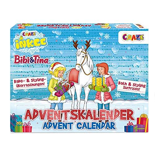 CRAZE Adventskalender BIBI UND TINA Beauty und Badespaß Kalender Kinder Mitgebsel Weihnachtskalender 2021 Badezusätze & Kinderschmuck 33326
