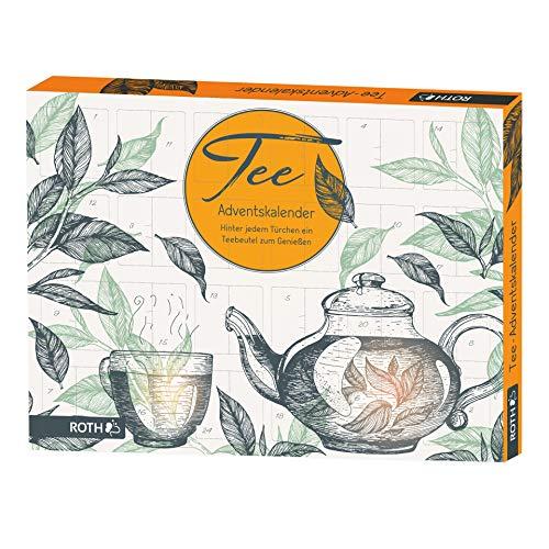 ROTH Tee-Adventskalender, gefüllt mit 24 Bio-Teebeuteln, 45x34x4cm