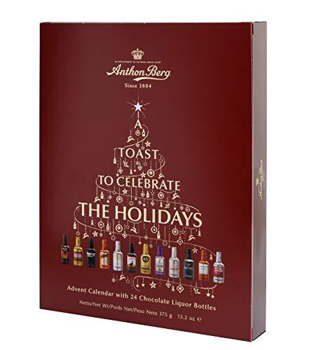 Anthon Berg - Chocolate Liqueurs - Advent Calendar with Famous Liqueur Brands - 24 bottles 375g - With a Delicious Liquid Filling