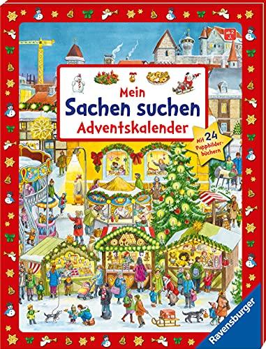 Mein Sachen suchen Adventskalender: Mit 24 Pappbilderbüchern