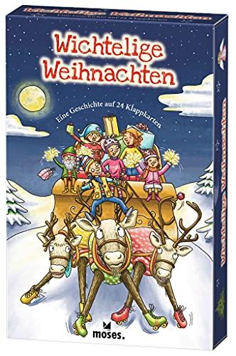 moses. Wichtelige Weihnachten   Eine Geschichte auf 24 Klappkarten   Kartenset für den Advent und die Weihnachtszeit   Für Kinder ab 5 Jahren