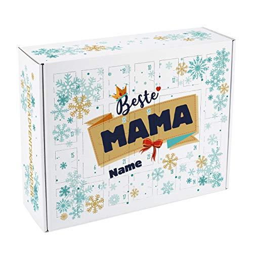 Herz & Heim® Adventskalender zum Befüllen für die Beste Mama mit Personalisierung