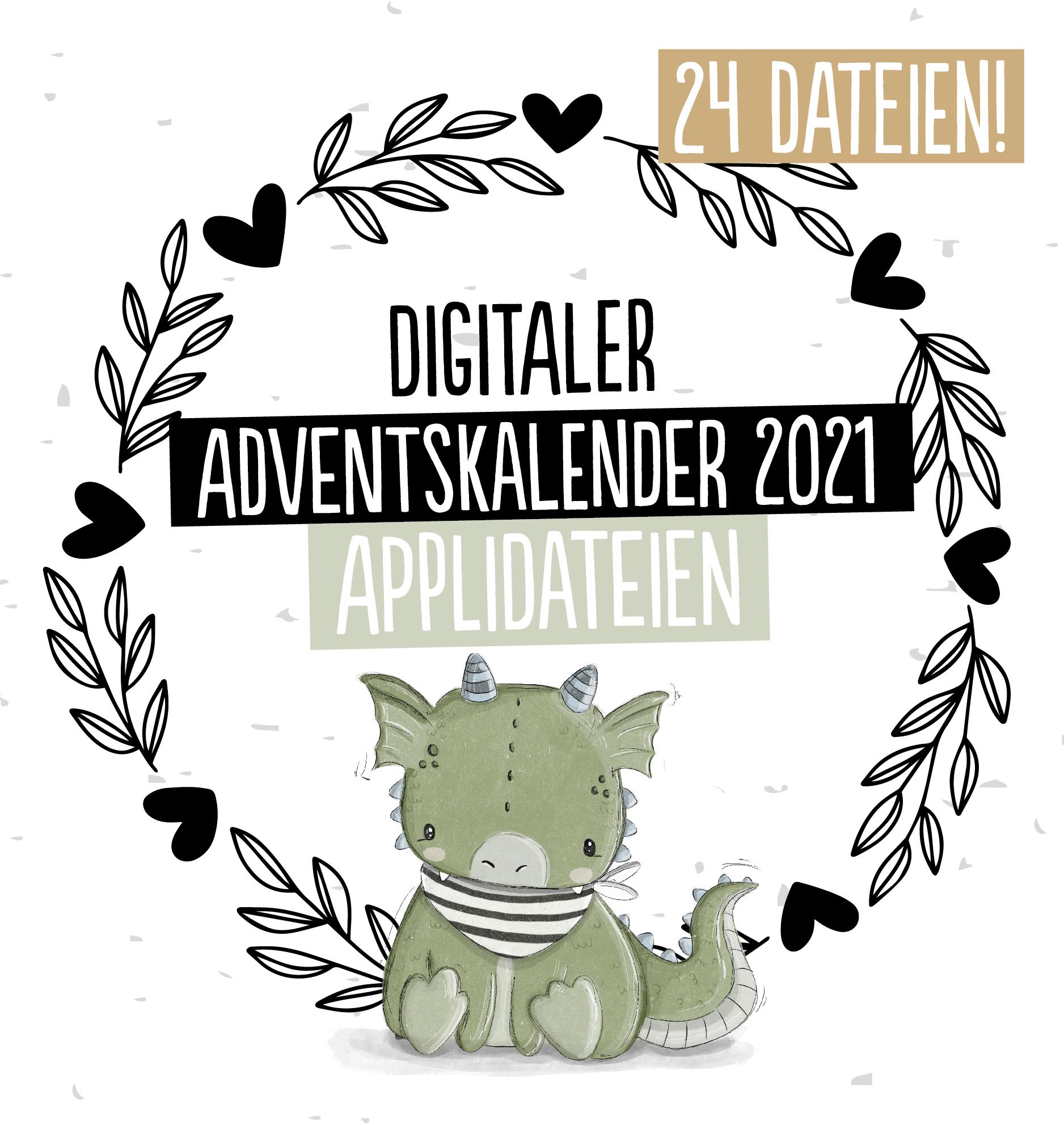 Applikationsvorlagen Adventskalender Paul & Clara 2021