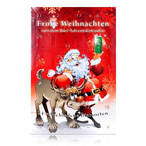 Huber`s Adventskalender Bier-Adventskalender Santa Bier mit 24 Bierdosen a 500ml, inkl. 6 Euro Pfand