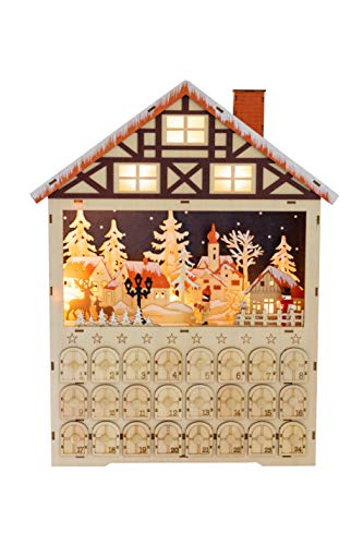 Contents: Clever Creations 2 Scene Wooden Advent Calendars
