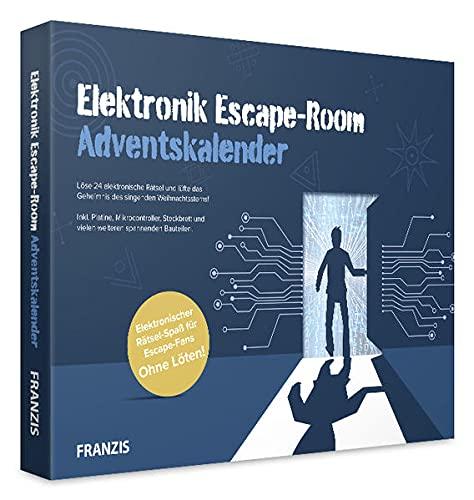 Franzis 67154-7 Elektronik Escape-Room Adventskalender-24 elektronische Rätsel, für Kinder ab 14 Jahre, bunt