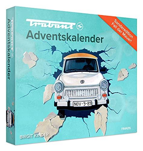 """FRANZIS 55106 - Trabant Adventskalender 2021, in 24 Schritten zum Trabant 601 unterm Weihnachtsbaum, Sonderedition """"Fall der Mauer"""", für Kinder ab 14 Jahren"""
