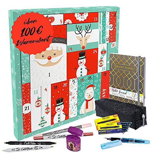 """ONLINE Adventskalender ,,Girls for school"""" für Mädchen I Geschenkidee zur Adventszeit I für Farbe und Kreativität im Schulalltag I Insgesamt 39 hochwertige Schreibwaren"""