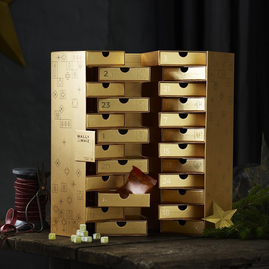 Großer Gold Weingummi-Adventskalender