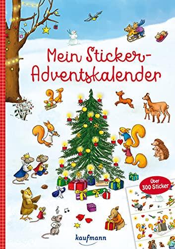 Mein Sticker-Adventskalender: Über 300 Sticker + Stickerheft-Adventskalender (Mein Stickerbuch)