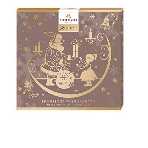 Niederegger Adventskalender Nougat Minis, Geschenk für Nougat-Liebhaber,180 g
