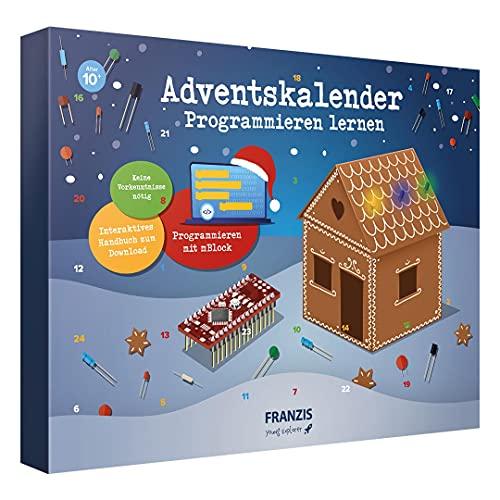 Franzis 67344-2 Adventskalender Programmieren Lernen, 24 spannende Elektronik-Projekte, für Kinder ab 10 Jahre, bunt