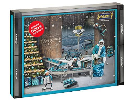 HAZET SANTATOOLS2021 Werkzeug-Adventskalender, blau-schwarz