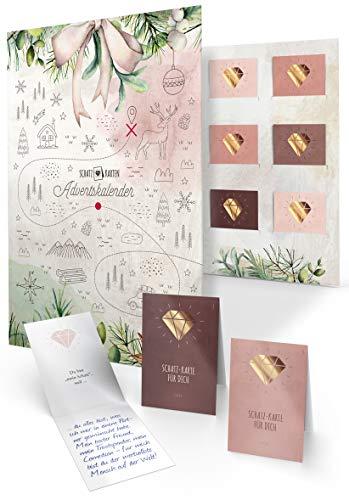Adventskalender mit Karten zum Ausfüllen als Geschenk für Erwachsene, 24 persönliche Botschaften – CherryCards® – detail 1