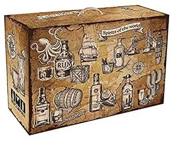 Spirituosen Tasting Kalender - 24x verschiedene Spirituosen im Adventskalender - Weihnachtsgeschenk Gin Vodka Rum Tequila Whisky Likör Geschenk Set Probierset