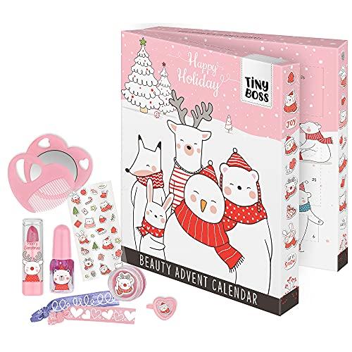Tiny Boss - Adventskalender für Kinder, mit Beauty-überraschungen, Haar-Accessoires und Zubehör, Deko-Box zum Aufstellen, besondere Geschenk-Idee für Mädchen