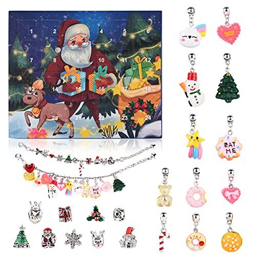 VAINECHAY Adventskalender Teenager 2021 Adventskalender Kinder Weihnachtskalender Kinder Mädchen Schmuck Adventskalender Charms für Frauen