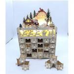 Contents: ZHIRCEKE Christmas Wooden Advent Calendar