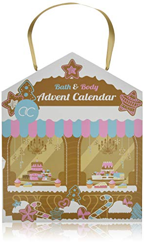 Accentra Beauty-Adventskalender Haus-Design mit Bath & Body Inhalt in sinnlichen Düften, Körperpflege, Badezusätze, Hautpflege & Kosmetik für Damen & Mädchen, (2er Pack)