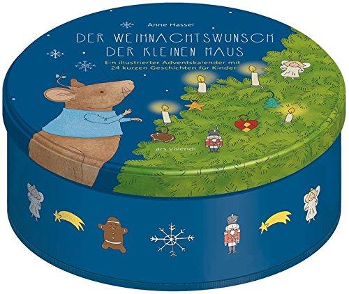 Adventskalender: Der Weihnachtswunsch der kleinen Maus - 24 kurze Geschichten für Kinder zum Lesen und Vorlesen ab 3 Jahren - In Blechdose mit 24 Karten zum Aufhängen
