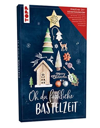 Adventskalender Oh du fröhliche Bastelzeit: 24 Türchen voller stylischer Bastelideen für die Weihnachtszeit und passendes Material. Mit Anleitungsbuch. Adventskalender ca. 50 cm x 30,8 cm x 3,5 cm