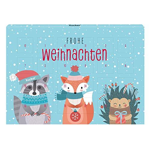 Adventskalender Weihnachten 2019 Vollmilch Xylit-Schokolade, 72 g – Xucker – detail 2