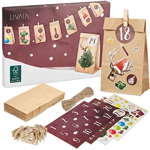 LIVAIA Adventskalender zum Befüllen 2020