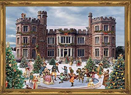 Am Schloss Papieradventskalender