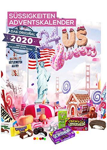Amerikanischer Adventskalender I US Weihnachtskalender American Candy mit 24 Süßigkeiten aus den USA Sweets I Geschenkset für Erwachsene Kinder I Weihnachtszeit Adventszeit – Boxiland – detail 2