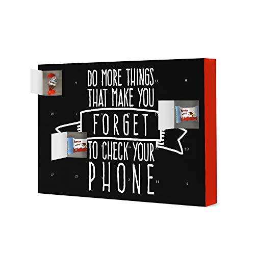 artboxONE Adventskalender mit Produkten von Kinder® Forget to Check Your Phone Adventskalender Typografie